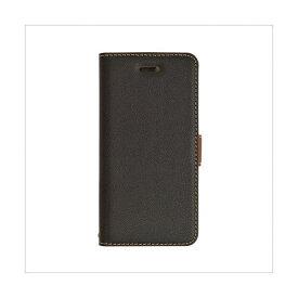 テレホンリース ラスタバナナ iPhone8/7/6s/6 ケース/カバー 手帳型 +COLOR 衝撃吸収 薄型 サイドマグネット BK×DBR 3434IP7SA