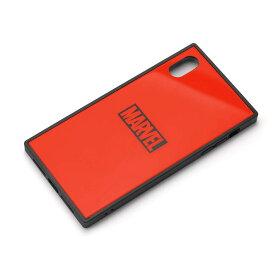 PGA iPhone XS Max用 ガラスハイブリッドケース ロゴ/レッド(PG-DCS632RD)【smtb-s】
