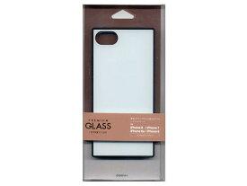 テレホンリース ラスタバナナ iPhone8/7/6s/6 4.7inch ハイブリッドケース スクエア型(TPU+ガラス/ホワイト) 5200IP747HB