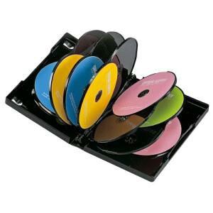 サンワサプライ DVDトールケース(12枚収納) 品番:DVD-TW12-03BK