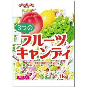扇雀飴本舗 3つのフルーツキャンデー 1kg 1袋から【smtb-s】