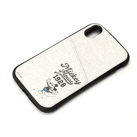 PGA iPhone XR用 タフポケットケース ミッキーマウス/グレー(PG-DCS694MKY)【smtb-s】