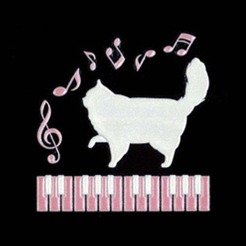 東洋ケース 蒔絵シール 6 猫とピアノ