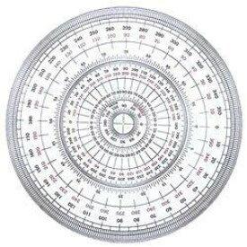 タケダ 分度器 全円12CM(25-0300)「単位:マイ」