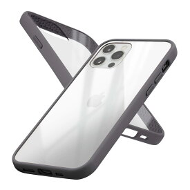 campino *Anti-shock SlimCasefor iPhone 12 Pro / iPhone 12/トープブラック(CP-I002-HYAS/BK)
