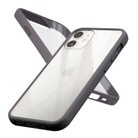 campino *Campino Anti-shock Slim Case for iPhone 12 mini /トープブラック(CP-I001-HYAS/BK)