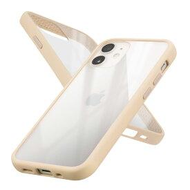 campino *Campino Anti-shockSlimCasefor iPhone 12 mini/シャンパンベージュ(CP-I001-HYAS/BG)