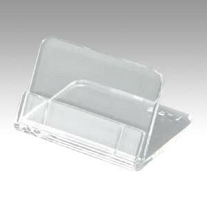 共栄プラスチック メタクリル 豆カード立(中) 5個入(L-35-5)