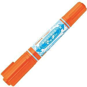 ゼブラ 水拭きで消せるマッキー P-WYT17-OR オレンジ