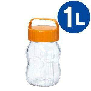 東洋佐々木ガラス 漬け上手 フルーツシロップびん 日本製 オレンジ 1000mL I-77862-OR-A-JAN-S(1個)