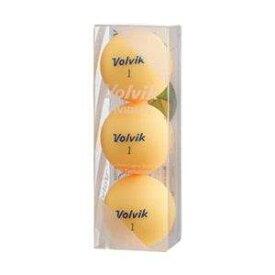 Volvik(ボルビック) VIVIDLITEOR ゴルフボール Volvik Vivid Lite《1スリーブ(3球)/シャーベットオレンジ》