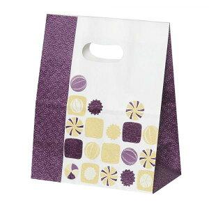 パックタケヤマ 紙袋 イーグリップ M 飴玉柄(小豆) 50枚×10包 XZT52020