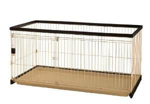 Richell(リッチェル) 木製お掃除簡単ペットサークル 150-80 超小型犬〜中型犬用 89531-3 ダークブラウン