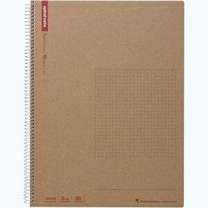 マルマン スパイラルノート A4 方眼 80枚 (N245ES)「単位:サツ」