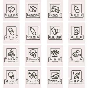 山崎産業 ゴミ箱用分別シール F ペットボトル SF-12【smtb-s】
