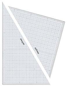 【ドラパス】三角定規 10mm方眼 24cm【smtb-s】