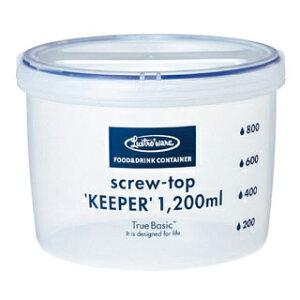 【まとめ買い10個セット品】ラストロ スクリュートップキーパー 浅型 B-2273KN 1200ml【 シール容器 保存容器 レンジ用品 】 【ECJ】