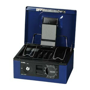 キャッシュボックス A5サイズ CB-8560-B ブルー 1台 カール【 事務用品 マネー関連品 店舗用品 手提金庫 】【ECJ】