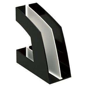 【まとめ買い10個セット品】 ファイルボックス A4判タテ型(収納幅100mm) FB-708-D ブラック 【ECJ】