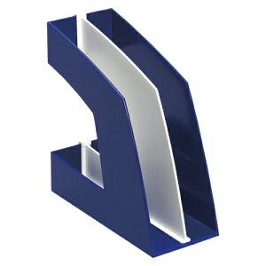 【まとめ買い10個セット品】 ファイルボックス A4判タテ型(収納幅100mm) FB-708-B ブルー 【ECJ】