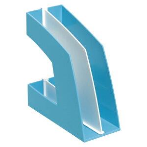 【まとめ買い10個セット品】 ファイルボックス A4判タテ型(収納幅100mm) FB-708-LB ライトブルー 【ECJ】