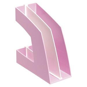 【まとめ買い10個セット品】 ファイルボックス A4判タテ型(収納幅100mm) FB-708-P ピンク 【ECJ】