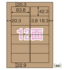 クラフト紙ラベル ダークブラウン ダンボール用 OPD861 【ECJ】