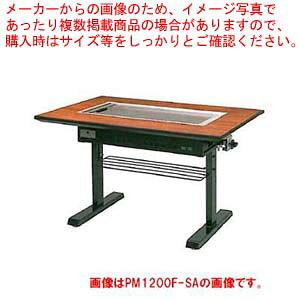 お好み焼きテーブル 9mm鉄板 4人掛 スチール脚洋卓 1200×800×700 プロパン(LPガス)【 メーカー直送/後払い決済不可 】【ECJ】