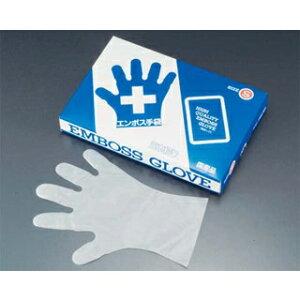 エンボス 手袋 #30 化粧箱(五本絞り)180枚入 L 30μ 【ECJ】【 ユニフォーム 】