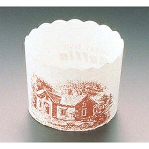 【まとめ買い10個セット品】マフィンカップ ハウス柄(100枚入)白 M-405【 製菓・ベーカリー用品 】 【ECJ】