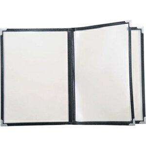 【まとめ買い10個セット品】クイックメニューブック B5サイズ QM-30 6ページ ブラック 32582【 メニュー・卓上サイン 】 【ECJ】