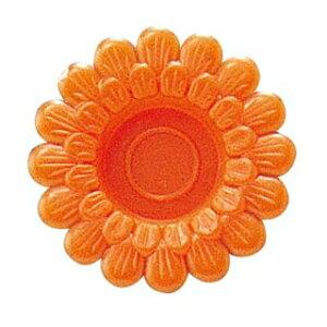 わさび皿(500枚入)菊 オレンジ【 厨房消耗品 】 【ECJ】
