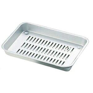 アルマイト 標準 水切バット 4号 276×211×36【 ストックポット・保存容器 】 【ECJ】