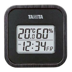 タニタ デジタル温湿度計 TT-571-BK ブラック 【ECJ】温度計