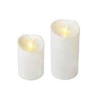 【まとめ買い10個セット品】LEDキャンドル ルミナラ アウトドアピラー3.75×5