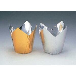【まとめ買い10個セット品】アルミケース ケーキカップ型(100枚入) 60号ゴールド 【ECJ】