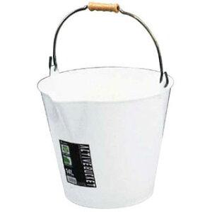 【 アクティブバケツ ホワイト 14リットル 】【 厨房器具 製菓道具 おしゃれ 飲食店 】 【ECJ】