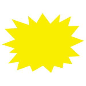 抜型蛍光ショーカード 爆発 レモン 大 30枚【販促用品 ポスター POP 店舗備品】【ECJ】