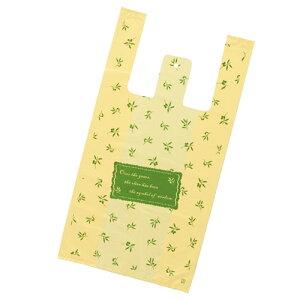 レジ袋 オリーブ 30×55(40)×横マチ15 2000枚【ECJ】