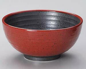和食器 キ327-437 赤柚子八重がけ砂目5.8丸丼 【ECJ】