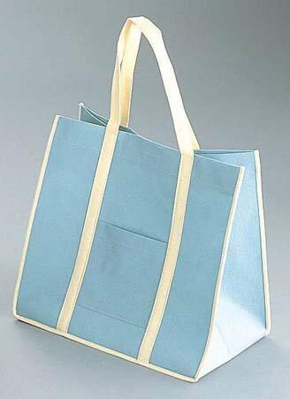 『手さげ袋 』ファインビュー 不織布バッグ[10枚入] 大 アッシュグレー