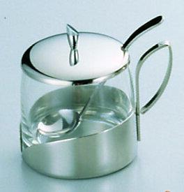 『 シュガーポット 』ガラス製シュガーポット No.8078