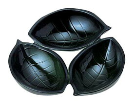 『 漆器 固定仕切弁当 』三ツ木の葉 織部 70010510【 メーカー直送/代引不可 】