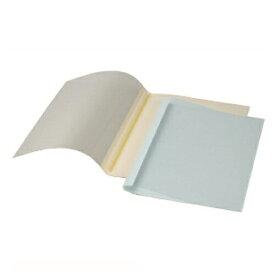 【まとめ買い10個セット品】 GBCサーマバインド 糊付け製本機 表紙カバー10枚入(表紙:透明クリアシート、裏表紙:紙) TCB09A4R ブルー 【ECJ】