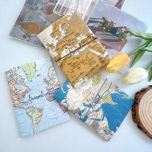 パスポートケース カバー IDケース トラベル 旅行 用品 地図 デザイン 小物 雑貨 かわいい おしゃれ シンプル お揃い 韓国 合成皮革 レディース メンズ