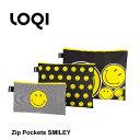 【メール便で送料無料】 LOQI ローキー ジップポケット ポーチ SMILEY Spiral,Dots,Spots ZP.SM / かわいい 小物入れ…