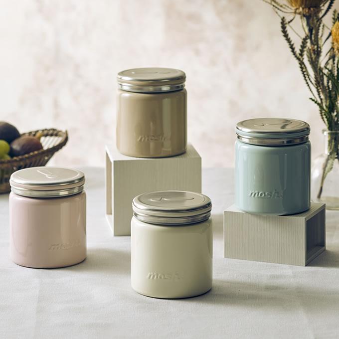 mosh! フードポット 300ml DMFP300 スープジャー フードジャー 保冷保温 弁当箱 ランチジャー 味噌汁 離乳食 ダイエット 魔法瓶 ドウシシャ ジャム瓶型 DOSHISHA ステンレス モッシュ