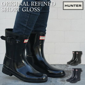 6bfedfef8d8323 ハンター HUNTER ブーツ W ORG REFINED SHORT GLOSS / オリジナル リファインド ショート グロス WOMENS  ORIGINAL REFINED SHORT GLOSS レインブーツ 長靴 雨の日 ...