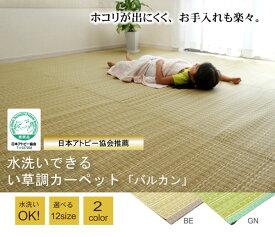 い草調ラグ い草調カーペット 洗える PPカーペット 『バルカン』 江戸間3畳(約174×261cm) 送料無料 楽天 通販