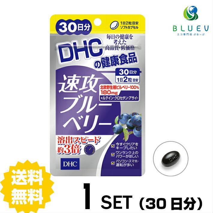 【送料無料】 DHC 速攻ブルーベリー 30日分 (60粒) ×1セット